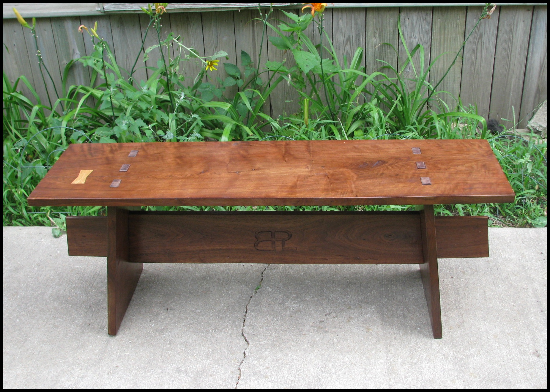 Amazing Finished Walnut Bench The School Of The Transfer Of Energy Machost Co Dining Chair Design Ideas Machostcouk