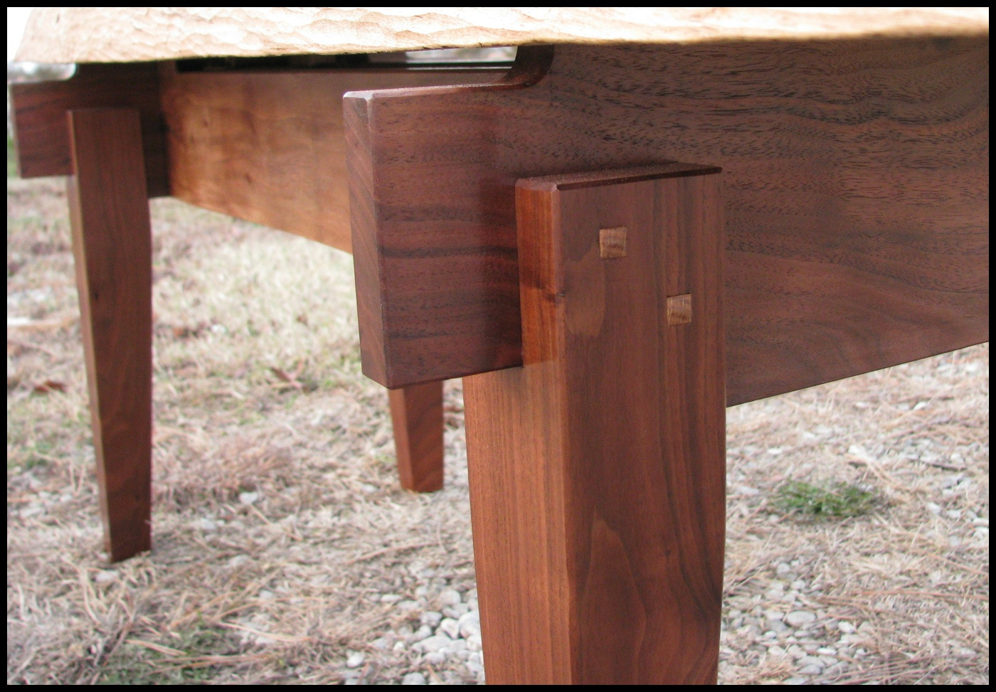 Walnut Slab Bench The School Of The Transfer Of Energy