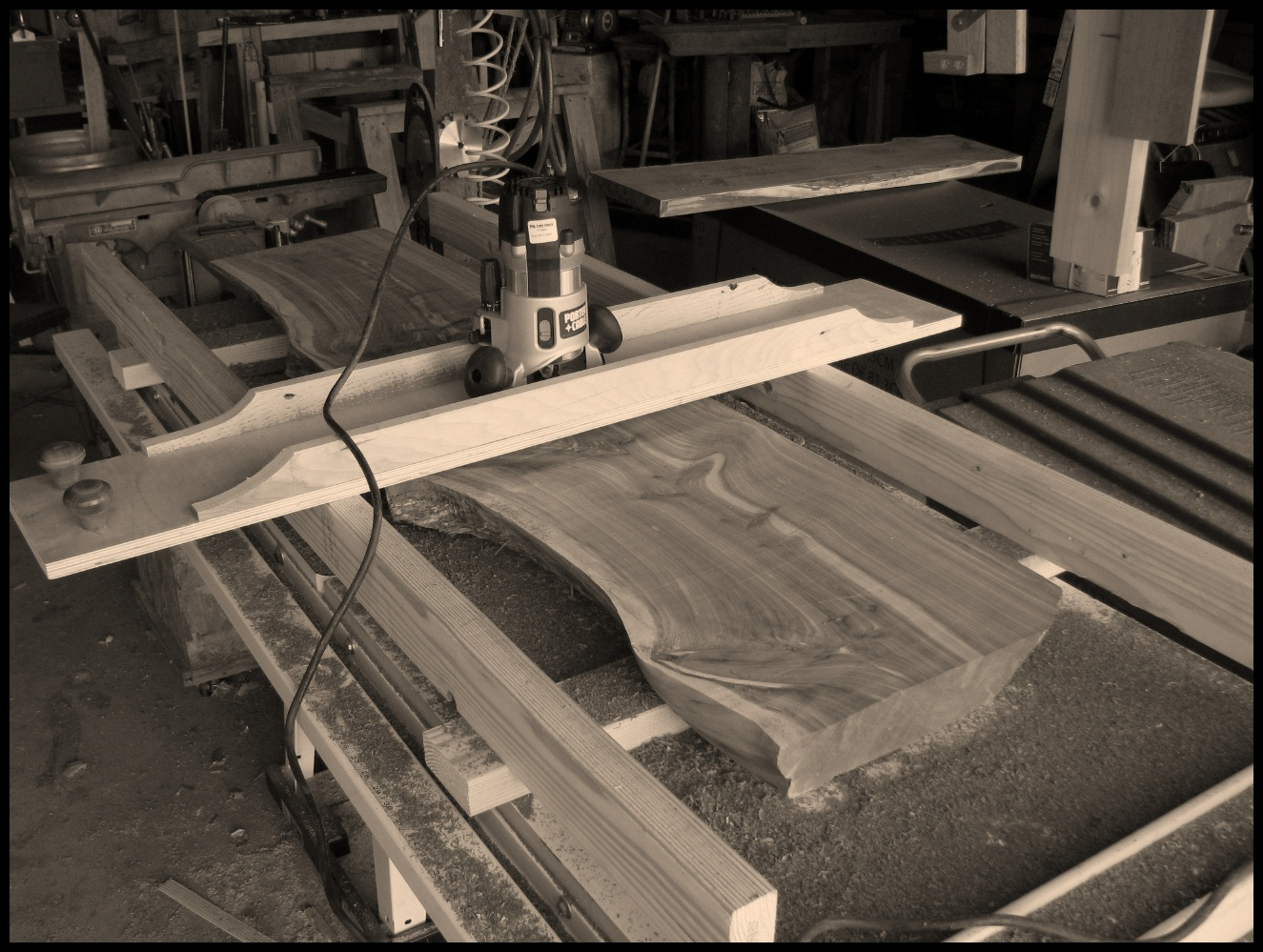 Jig For Flattening Slabs The School Of The Transfer Of