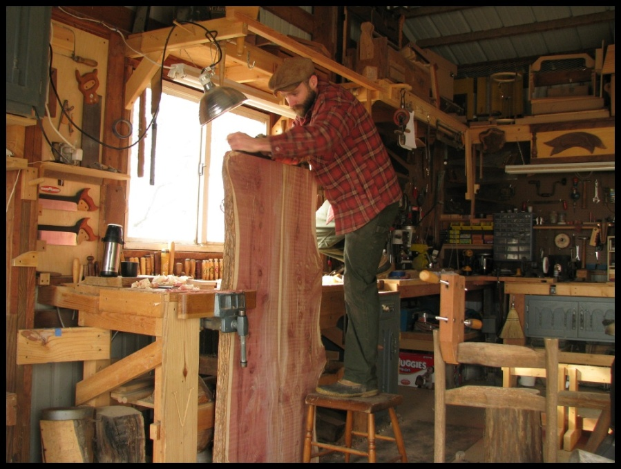 Cedar Slab Table The School Of The Transfer Of Energy