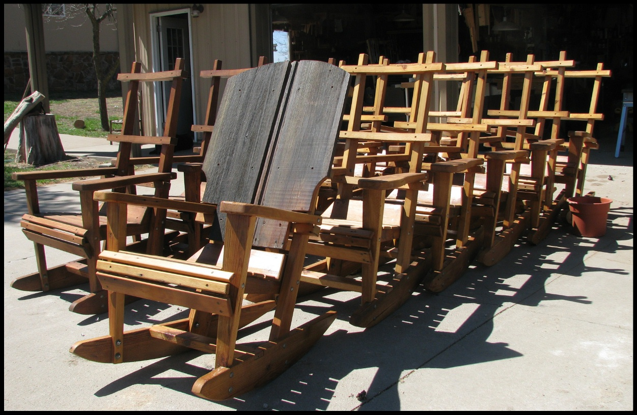 rustic rocking chairs | The School of the Transfer of Energy