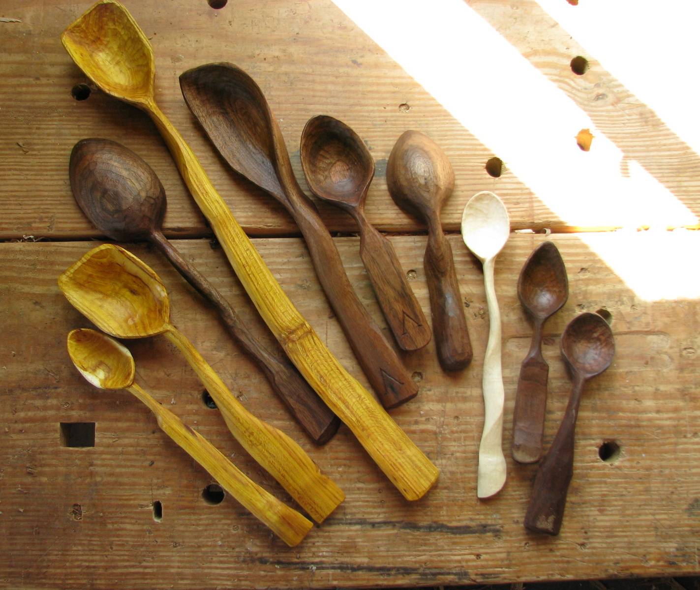 Carved spoons the school of transfer energy