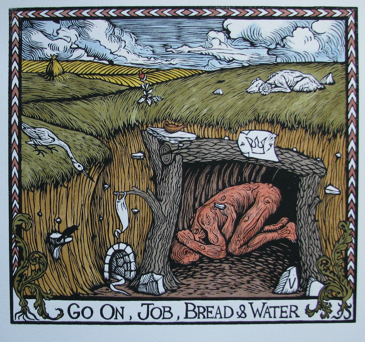In Color Go On Job Bread Water