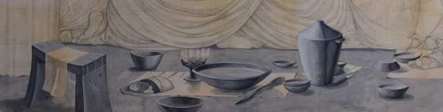 Thomas grisaille detail