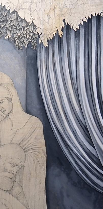 Thomas grisaille drape detail