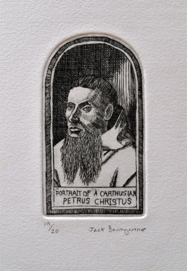 Portrait of a Carthusian after Petrus Christus
