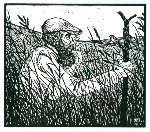 Walking Man in the Tallgrass Prairie