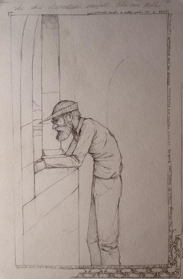 Walking Man at a Window