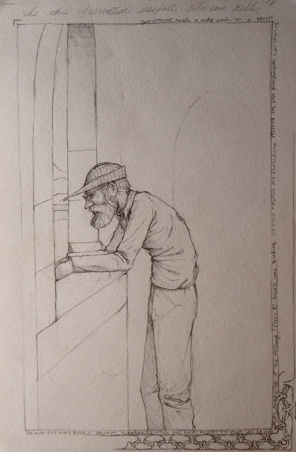 Walking Man at a Window