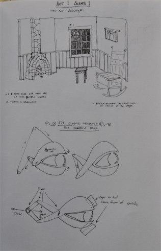 set design and shadow eye mechanics