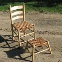 Hickory Chair and Stool