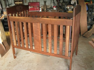 Walnut Crib