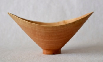 pear-wood natural edge bowl