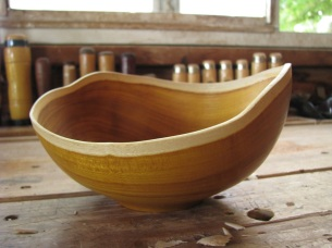 osage orange natural edge bowl