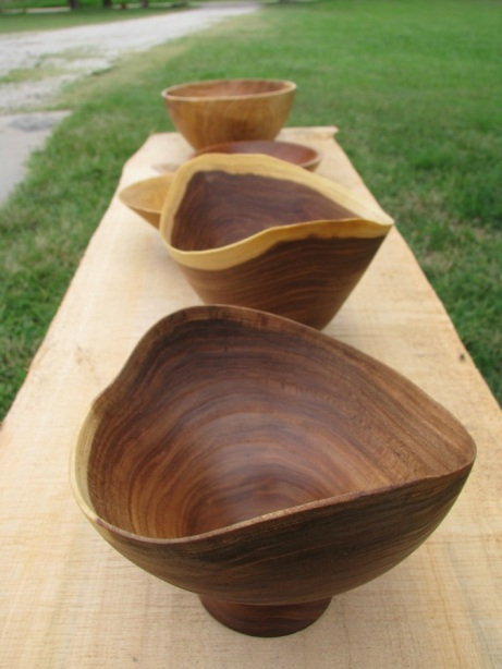elm ntural edge bowls