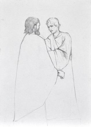 Saint Thomas and Jesus