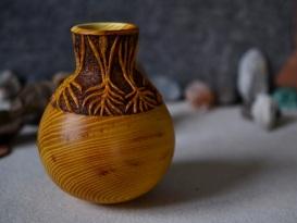 carved osage orange vessel