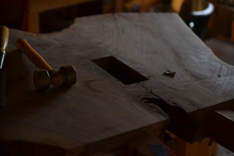 Oak and Walnut Table build05