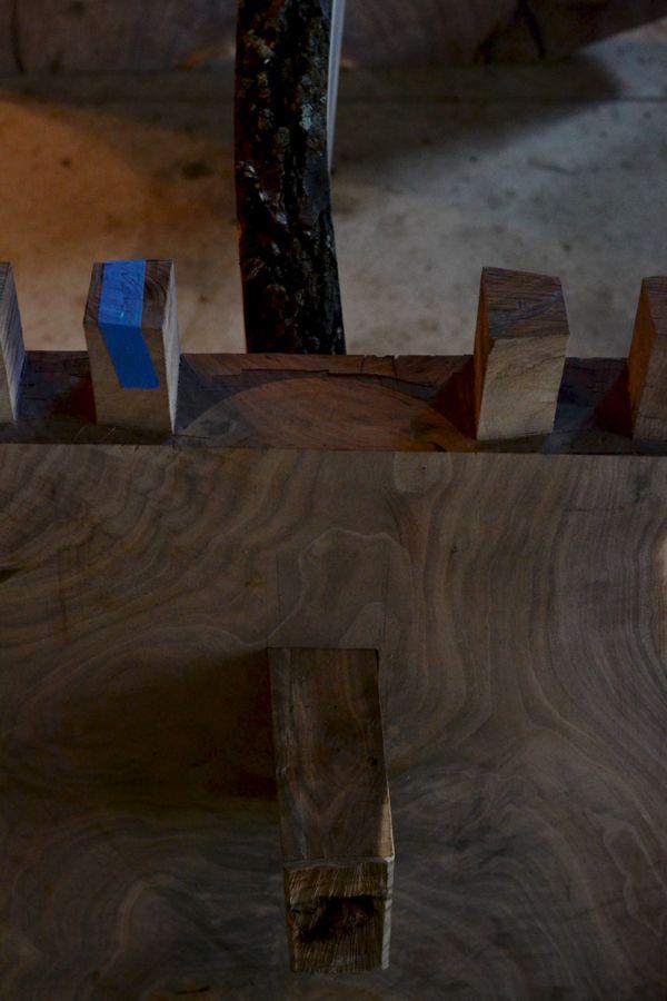 Oak and Walnut Table build06