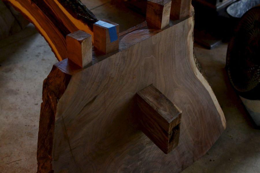 Oak and Walnut Table build07