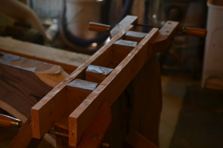 Oak and Walnut Table build10