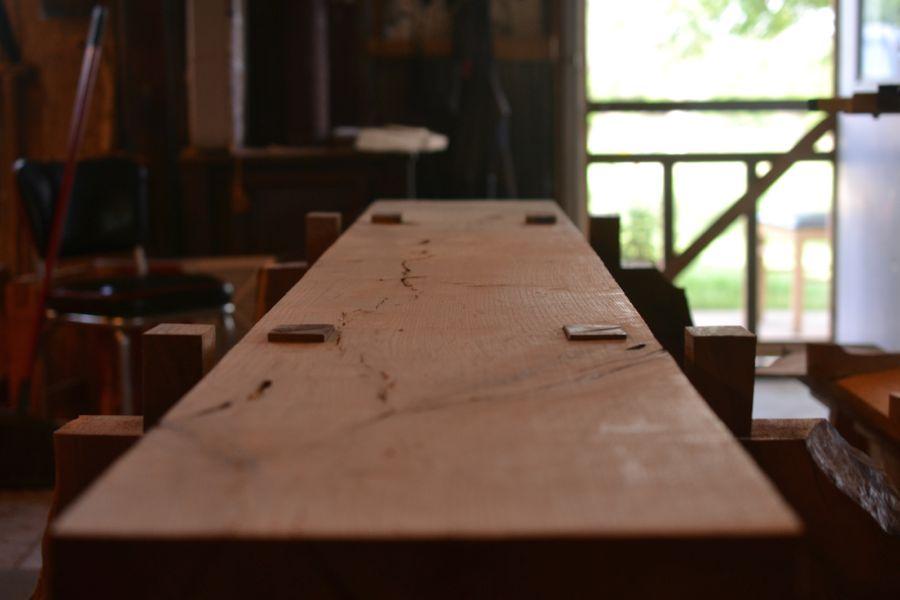 Oak and Walnut Table build15