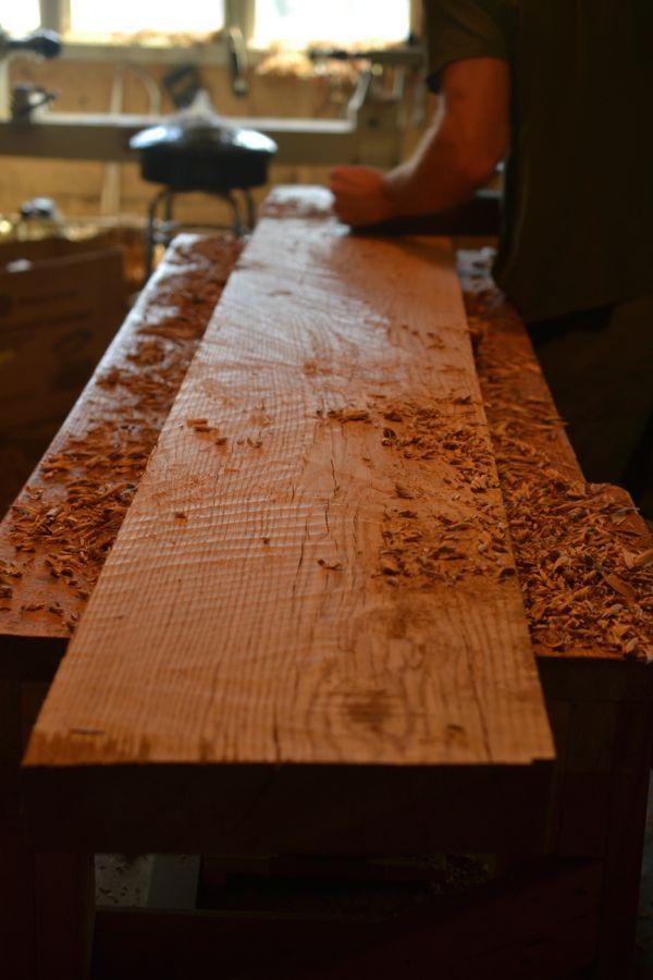Oak and Walnut Table build17