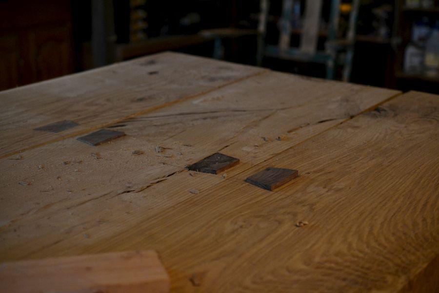 Oak and Walnut Table build19