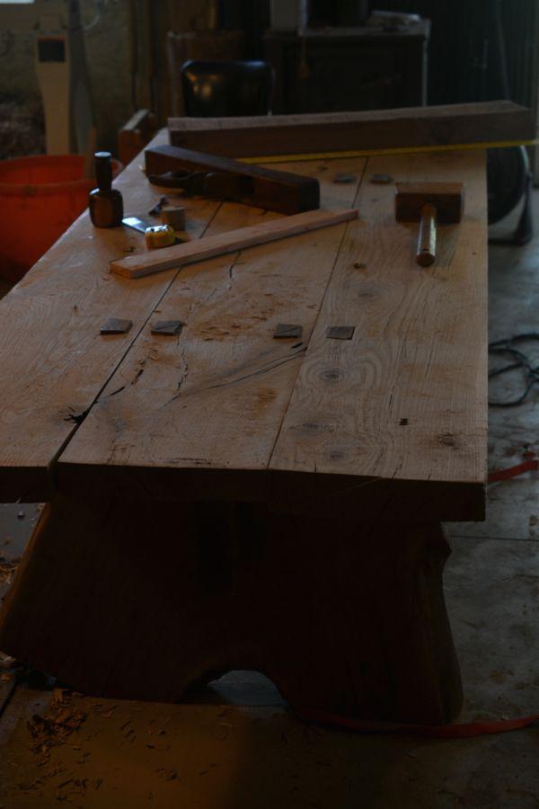 Oak and Walnut Table build20