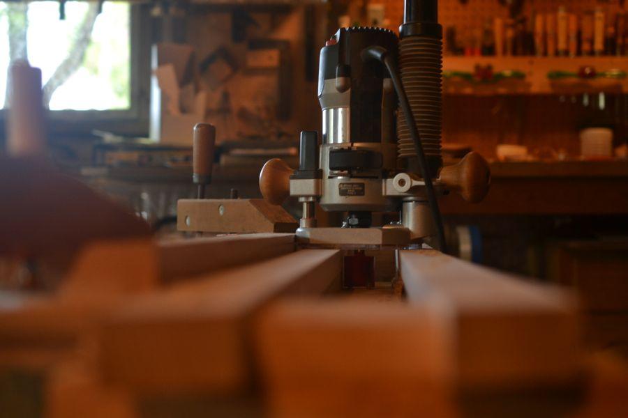 Oak and Walnut Table build22