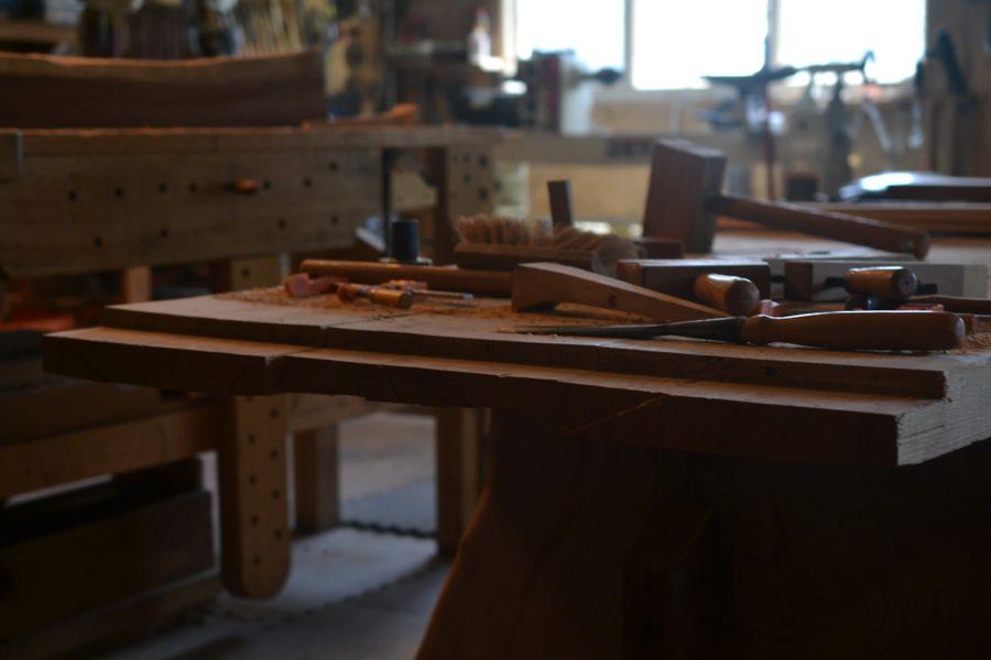 Oak and Walnut Table build24
