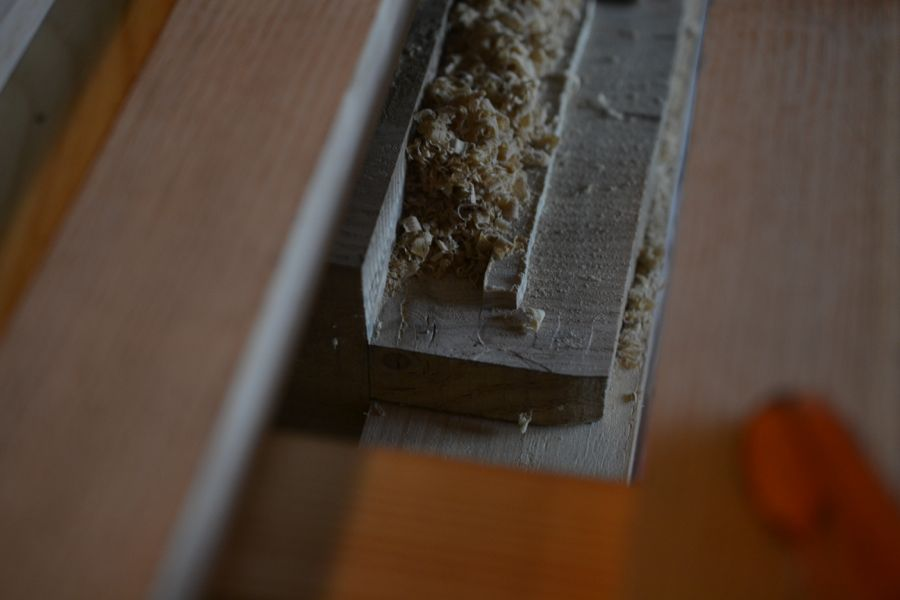 Oak and Walnut Table build27