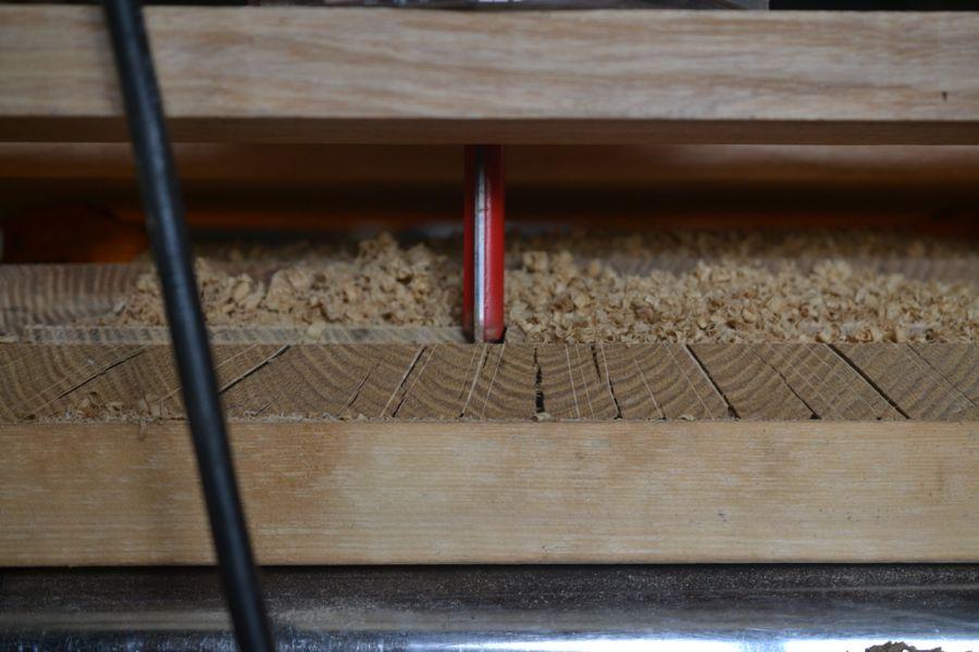 Oak and Walnut Table build28