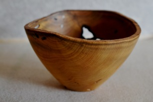 wormy persimmon bowl