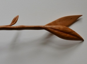 carved pear spoon