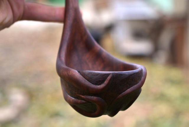 Walnut Root Ladle01