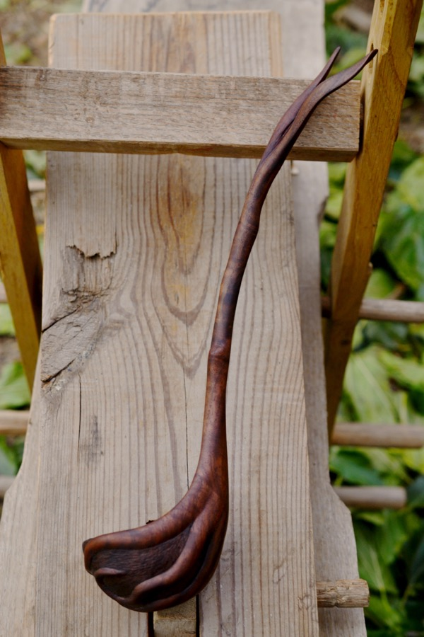 Walnut Root Ladle09