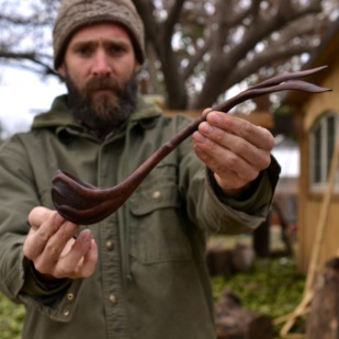 Walnut Root Ladle13