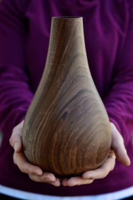 black walnut vessel